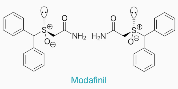 The chemical structure of modafinil