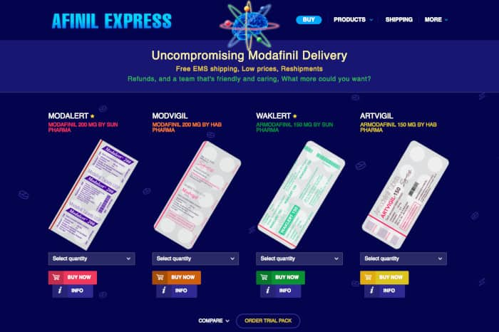 Buying modafinil online in Australia from AfinilExpress